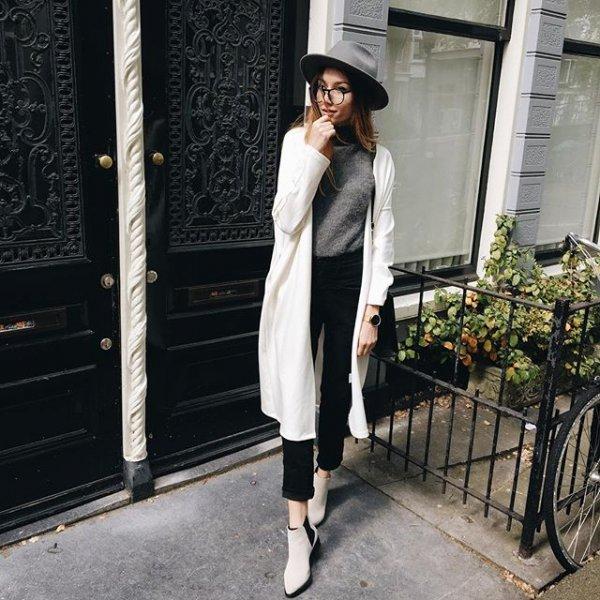 white, clothing, black, dress, outerwear,