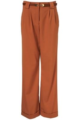 Topshop Apricot Wide Leg Trousers