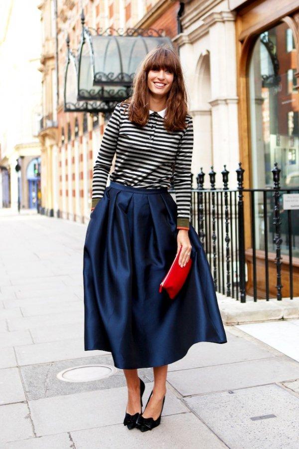 A Dramatic Midi Skirt