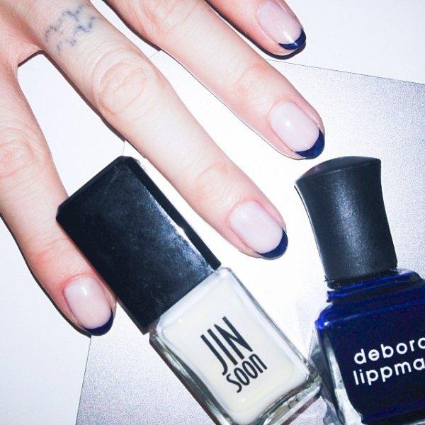 Jin Soon, color, electric blue, lavender, nail,