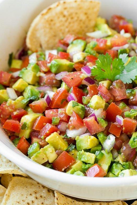 food,dish,pico de gallo,salad,panzanella,