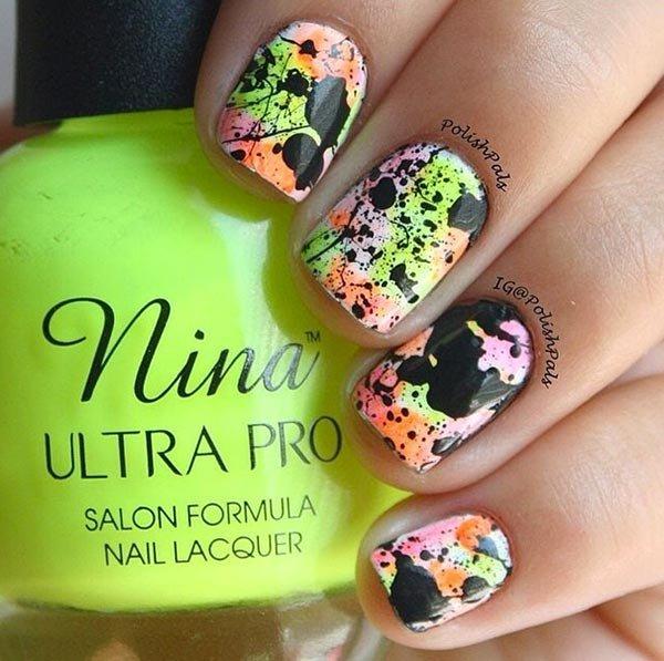 nail, color, finger, green, nail care,