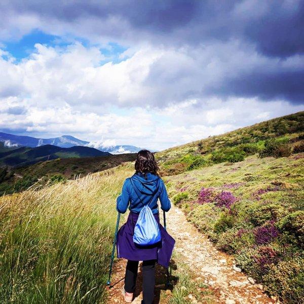 sky, mountainous landforms, ridge, path, wilderness,