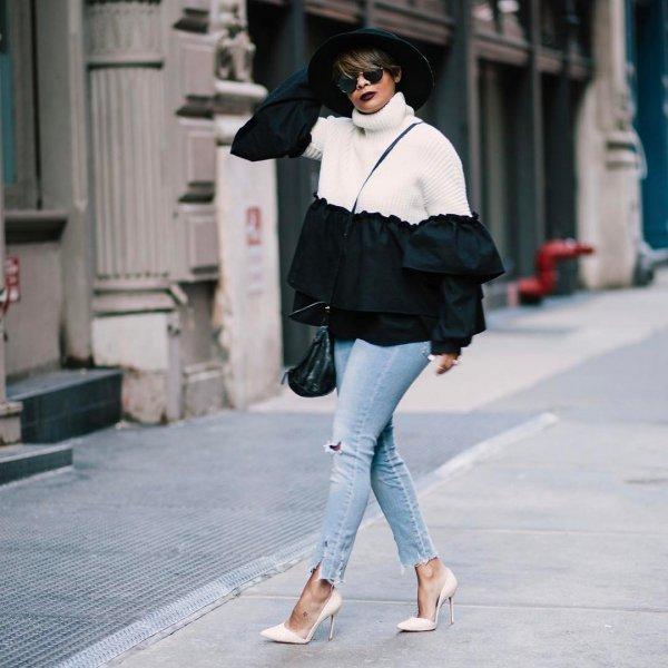 white, clothing, footwear, winter, denim,
