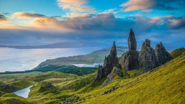 highland, mountainous landforms, sky, nature, mountain,