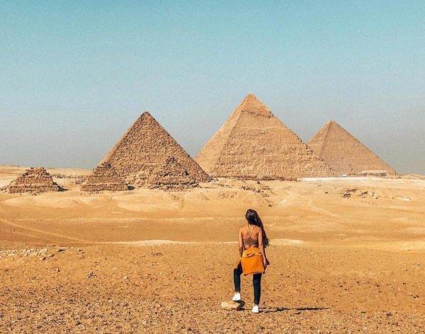 pyramid, sky, desert, monument, erg,