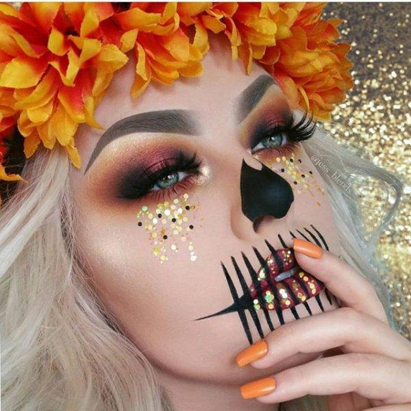 face, orange, eyebrow, eyelash, nail,