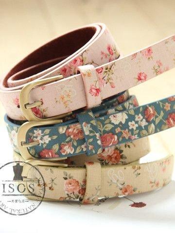 Floral Print Belts
