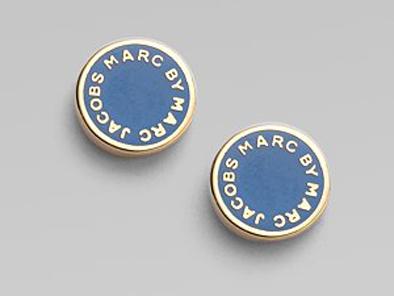 Marc by Marc Jacobs Marc Logo Disc Stud Earrings