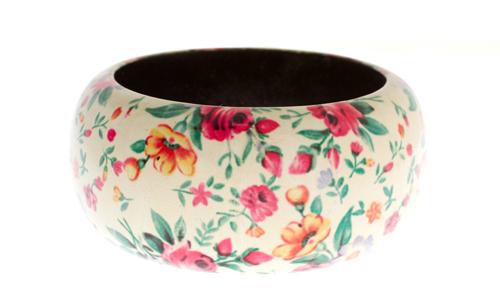 Asos Light Based Floral Bangle