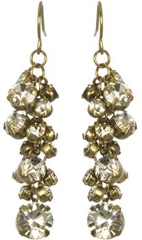 Marlyn Schiff Rhinestone Cluster Earrings