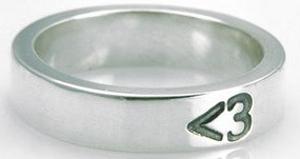 <3 Heart Ring