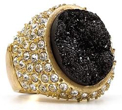 Aqua Raw Stone Crystal Ring