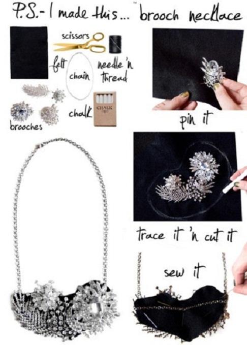 DIY Brooch Necklace...