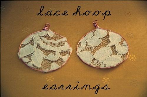 DIY Lace Earrings...