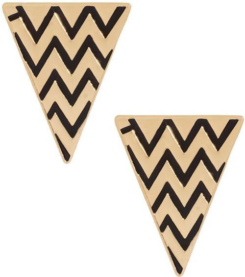 ASOS Zig Zag Enamel Triangle Earrings
