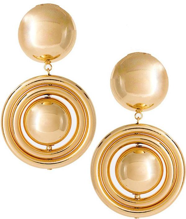 ASOS Bauble Interlink Circle Drop Earrings