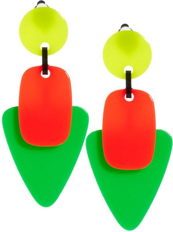 ASOS Neon Trip Drop Earrings