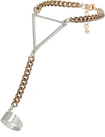 Topshop Triangle Hand Chain
