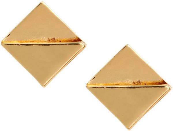 ASOS Folded Square Stud Earring