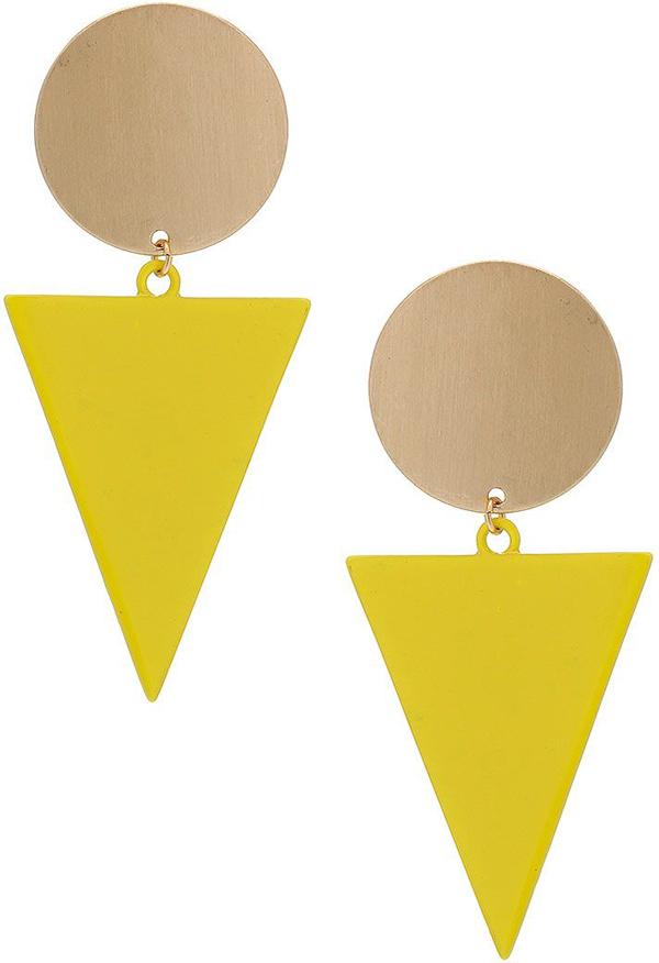Topshop Circle Triangle Drop Earrings