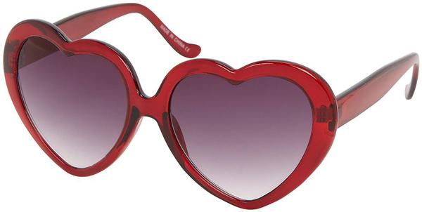Red Heart Plastic Sunglasses