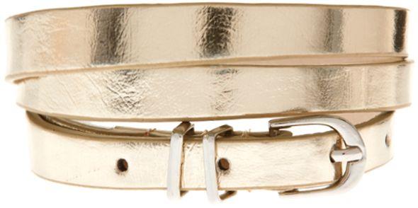 ASOS Metallic Metal Keeper Super Skinny Waist Belt