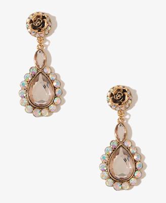Rosette Teardrop Earrings