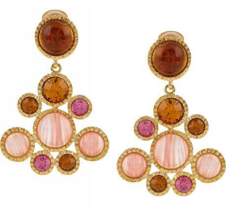 Kenneth Jay Lane Crystal Clip Earrings