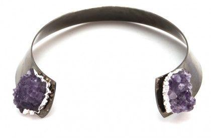 Druzy Stone Collar Necklace