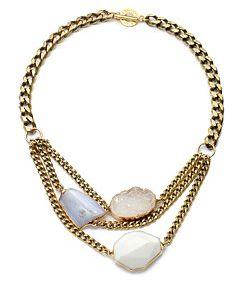 Druzy Stone Chain Necklace
