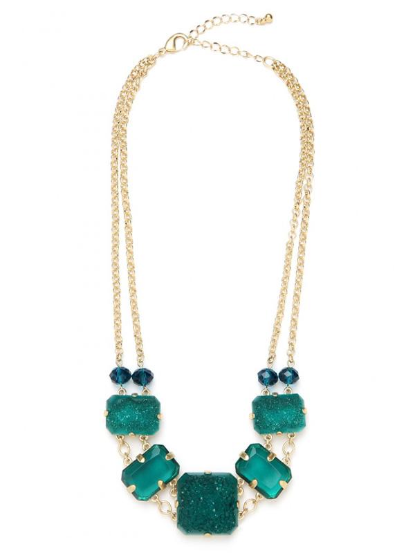 Druzy Stone Bib Necklace