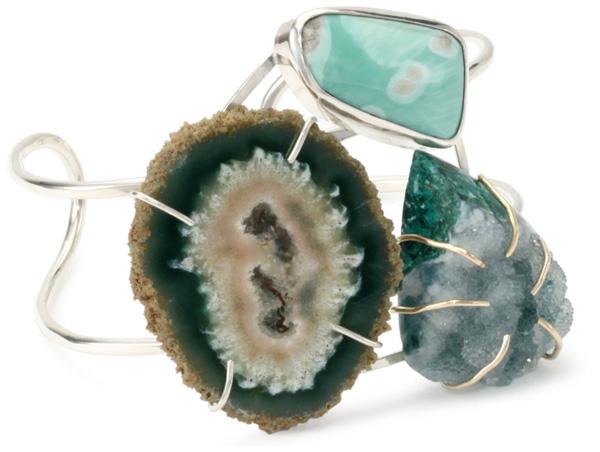 Druzy Stone Cuff Bracelet