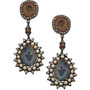 Druzy Stone Statement Earrings