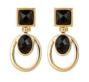 Claudia Lobao Geometric Drop Earrings