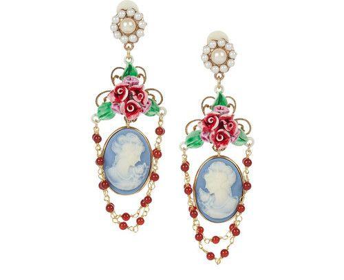 Cameo Chandelier Earrings