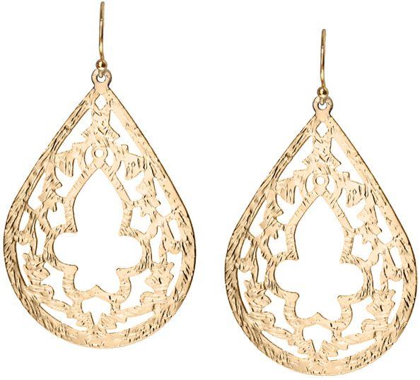 Gold Indian Earrings by Nautical Wheeler Jewelry