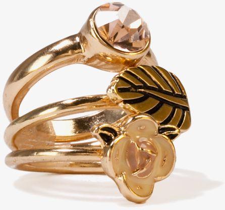 Flower Ring Set by Forever 21