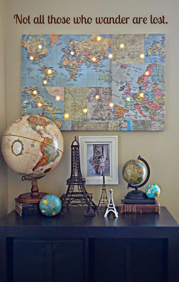 DIY World Map with Lights