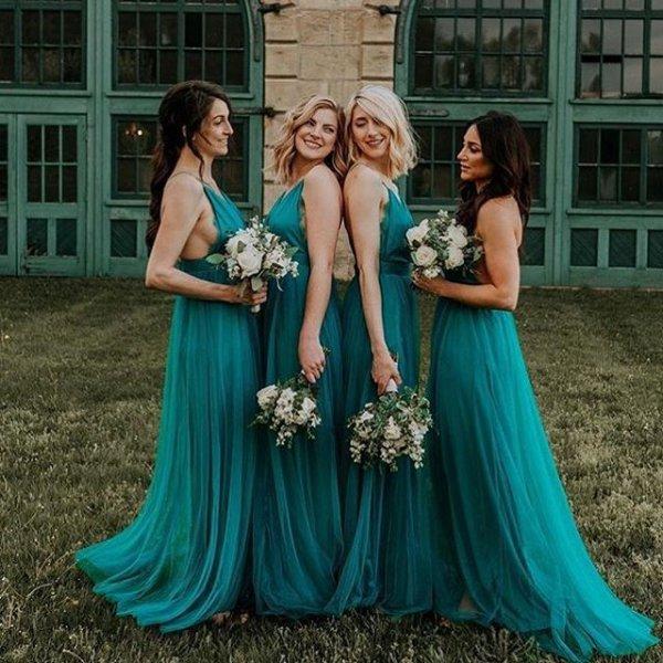 gown, blue, woman, green, dress,