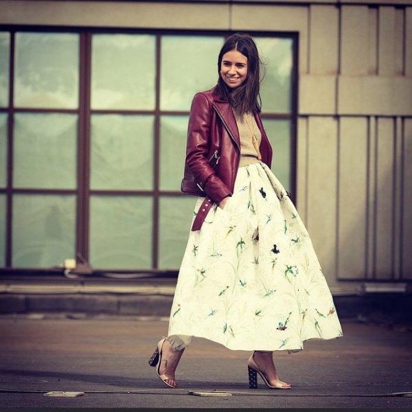 Voluminous Midi Skirts Are Fabulous