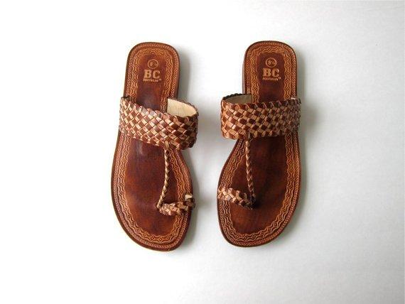 Tooled Leather Flats