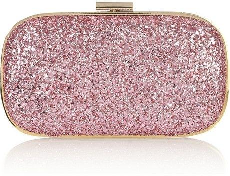 Anya Hindmarch Marano Glitter-Finish Leather Clutch