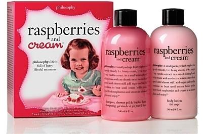 Philosophy Raspberries and Cream Shower Gel & Lotion Duo