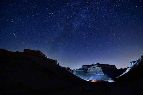Sky, Blue, Night, Star, Mountain,