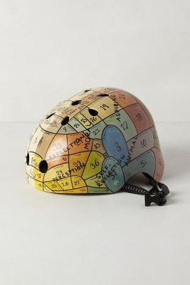 Handpainted Bike Helmet by Anthropologie