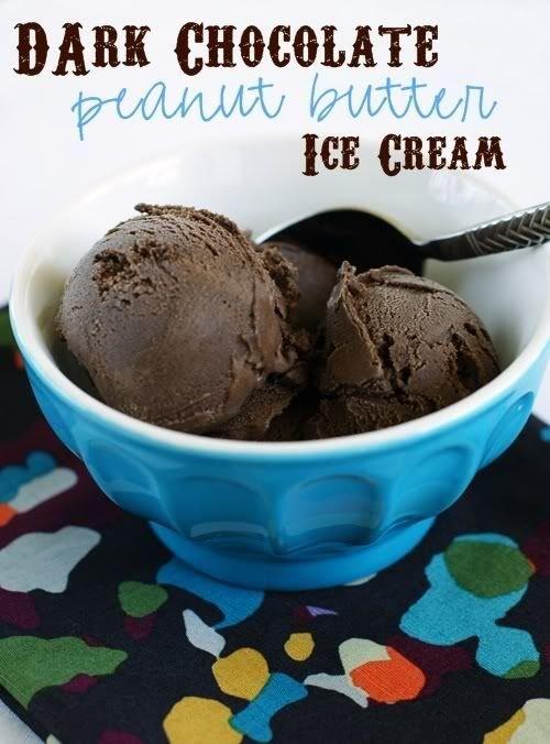 Dark Chocolate Peanut Butter Ice Cream