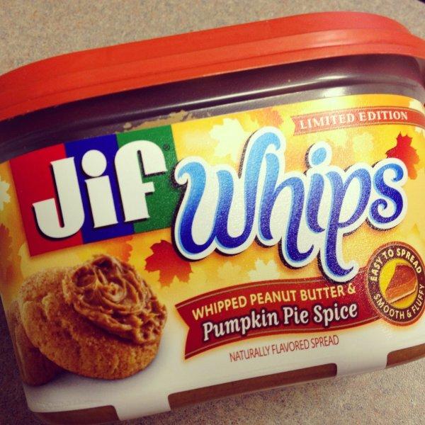 Jif Whips Pumpkin Pie Spice
