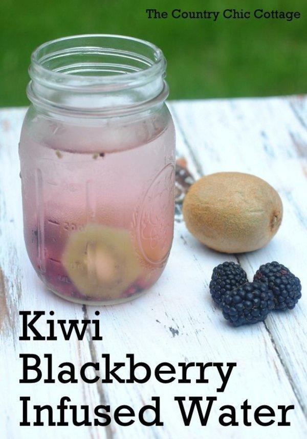 Kiwi Blackberry Water