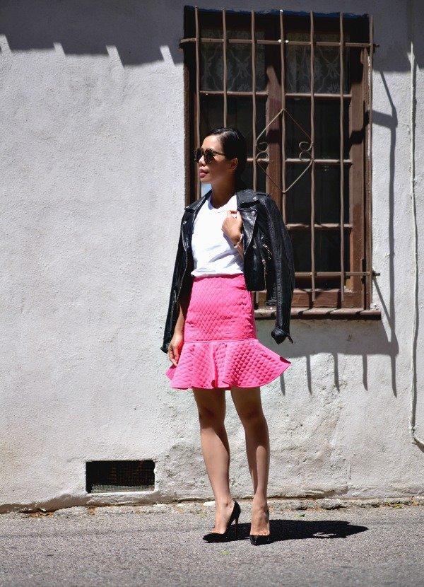 A Sleek Mini Skirt